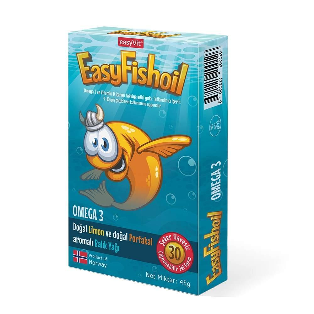 EASYFISHOIL OMEGA-3 COCUK 30 ÇİĞNEME TABLET