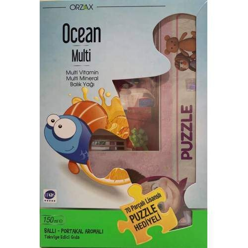 OCEAN MULTI BALIK YAGI BAL PORTAKAL AROMA 150 ML (70 PARÇA PUZZLE HEDİYELİ )