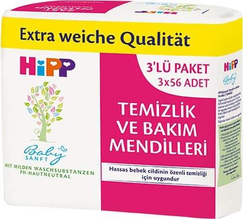 ISLAK MENDİL HIPP TEMIZLIK VE BAKIM 56LI 3LÜ PAKET