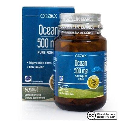 OCEAN BALIK YAĞI 500 MG 60 KAPSÜL