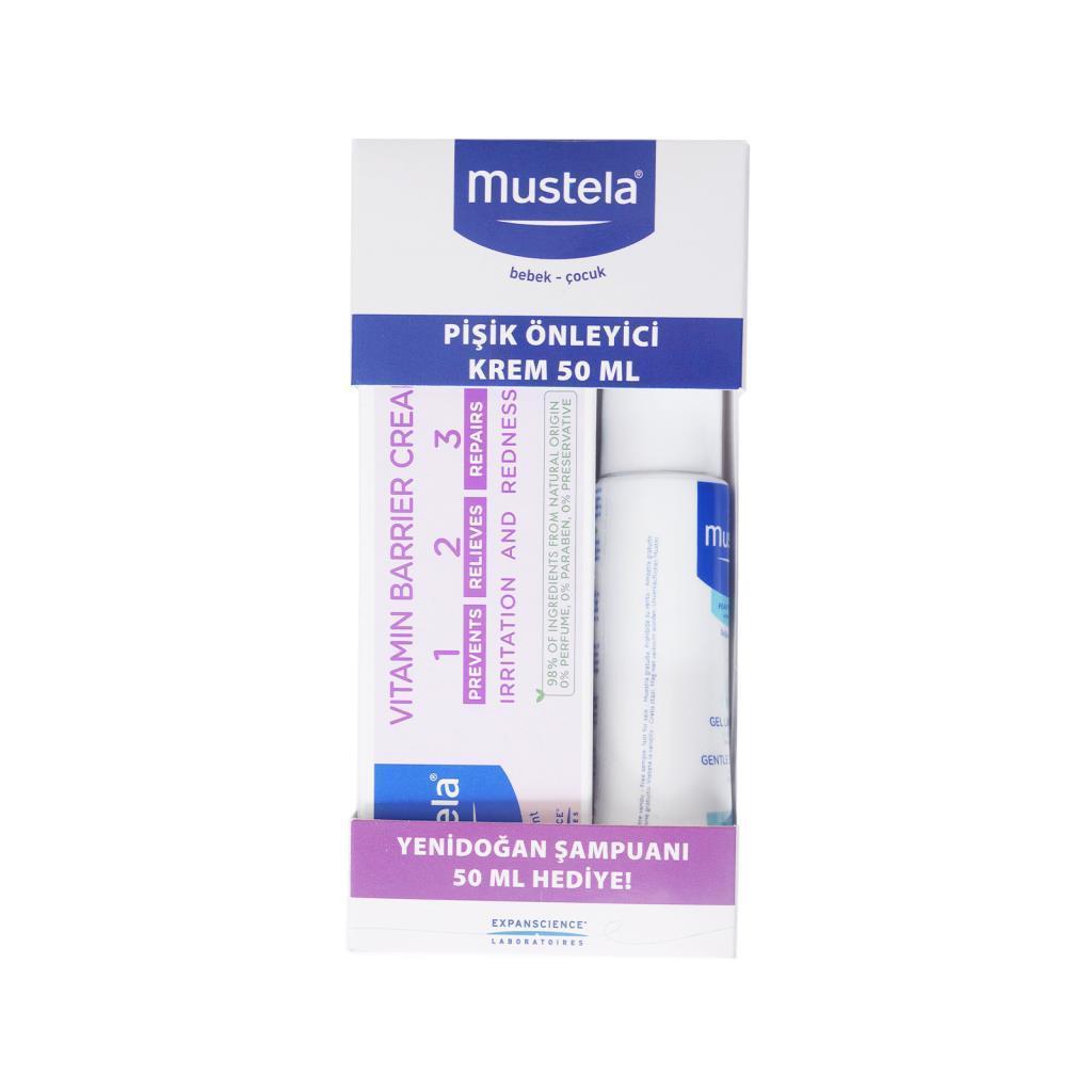 Mustela Vitamin Barrier 1.2.3 Pişik Kremi 50 ml (Yeni Ambalaj) + Yenidoğan Şampuan 50 ml Hedıye