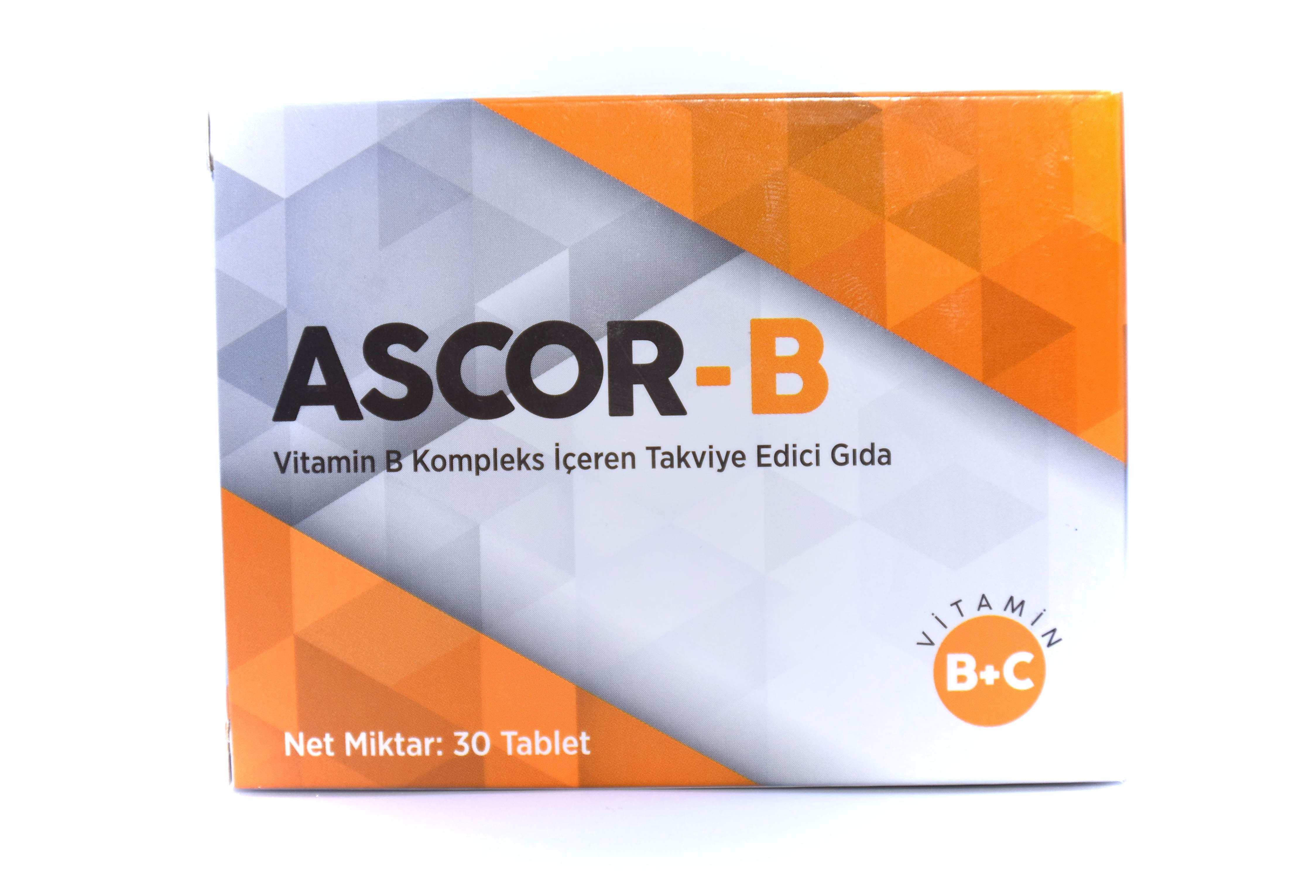 ASCOR- B VİTAMİNİ 30 KAPSÜL
